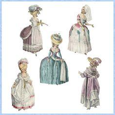 Marie Antoinette Paper Dolls by Darvahlous on Etsy, $4.00