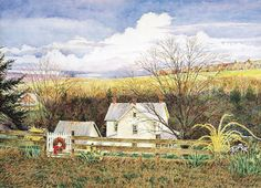 David Armstrong (1947-1998) ~ Spring Farm David Armstrong, Cabins And Cottages, Country Art, Take Me Home, Portraits, American Artists, Sculpture Art, Beautiful Homes, Barns