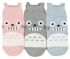 New unisex Cotton Character Socks_My neighbor TOTORO_gray/pink/blue