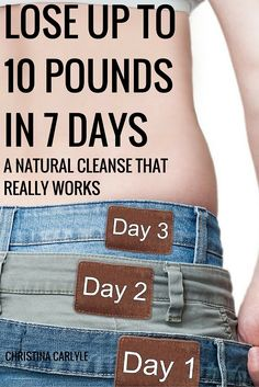 A powerful, natural whole foods cleanse that will help you lose up to 10 (or more) pounds in 7 days #weightloss