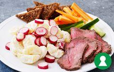 Roastbeef med kold kartoffelsalat