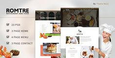 ROMTRE - Cafe & Restaurant PSD by ThemeNovo ROMTRE which is a PSD Design Restaurant specifically built for sites run by restaurant, caf¨¦ and bistro owners. Each establishment
