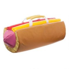 Carry your things in tasty Steven Universe style with Steven's handy Hot Dog Duffel Bag.