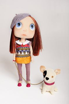 Castom doll - collectible dolls- Doll -Blythe inspired doll - doll Jointed - doll 11.4 inches /29cm