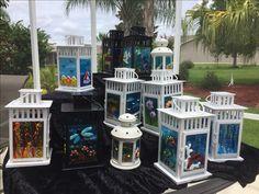 Work by Annie Dotzauer. Samples of my fused glass lanterns