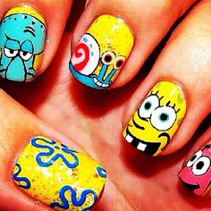 Ok last one! More spongebob nails!!!!!! ;)