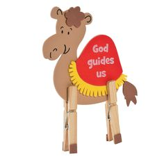 Camel Clothespin Craft Kit, Novelty Crafts, Crafts for Kids, Craft & Hobby Supplies - Oriental Trading Vbs Crafts, Church Crafts, Bible Crafts, Preschool Crafts, Arts And Crafts, Yarn Crafts, Sunday School Crafts For Kids, Fun Crafts For Kids, Toddler Crafts