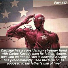 Plus venom has been with PLENTY of other people. Carnage has only been on Docter Nieves and Cletus Kassady