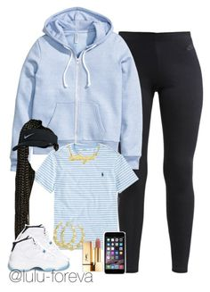 """Untitled #1593"" by lulu-foreva ❤ liked on Polyvore featuring NIKE, H&M, Ralph Lauren, Retrò and Yves Saint Laurent"