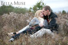 #engagement #field #fall #kiss © Bella Muse | www.Bella-Muse.com