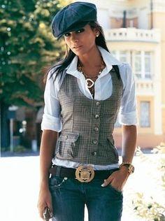 Minus the hat; with a longer vest