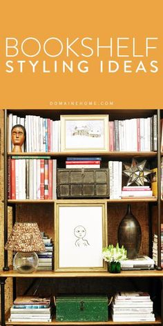 The easiest tricks and ideas for building a stylish, interesting bookshelf…. Cool Bookshelves, Bookcase Shelves, Bookshelf Ideas, Book Shelves, Bookcases, Interior Decorating, Interior Design, Design Design, Home Interior Accessories