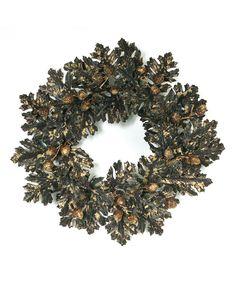 Look what I found on #zulily! Oak & Acorn Wreath by Melrose #zulilyfinds
