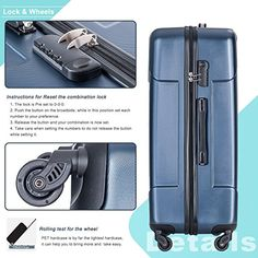 Amazon.com | Merax 3 Piece P.E.T Luggage Set Eco-friendly Light Weight Spinner Suitcase | Luggage Sets
