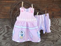 Baby Girl Dress with ruffled bloomers Princess by SouthernSister2, $25.00