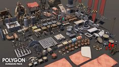 25% OFF RELEASE SALE! Get in quick! A low poly asset pack of characters, props, weapons and environment assets to create a Fantasy themed polygonal style game. Modular sections are easy to piece together in a variety of combinations. Includes a big demo scene (Character poses indicative only) - Modular Interior castle Set - Modular Interior cave Set - Modular Goblin Camp Set - Modular Basement Set - Modular Sewer Set - Multiple Dungeon entrances - Alternate materials for dust, moss, snow,...