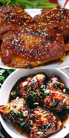 INSTANT POT HONEY GARLIC CHICKEN! Sweet, savory & tender chicken thighs prepared with honey garlic sauce & cooked in an Instant Pot. Dinner in 30 min! #instantpot #instantpotchicken #chickendinner #chickenthighs