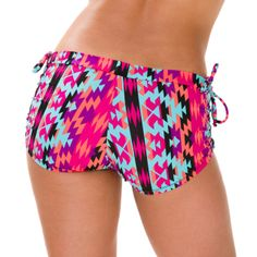 Onzie Side String Short - Santa Fe {Click to Shop!} #yoga #bikram #fitness #pilates #pole #spinning #gym #workout #clothes