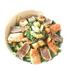 Zin in sushi maar dan net wat anders? Deze sashimi salade is een prima alternatief!