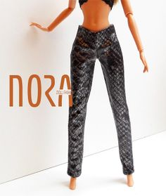 Faux leather pants for Barbie