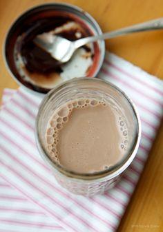 Homemade Chocolate Syrup: organic sugar, cocoa powder, water, vanilla and a pinch of salt.