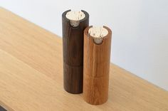 Salt and pepper mill set by tealandgold on Etsy