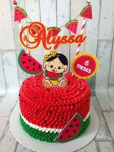 Watermelon Birthday Parties, Fruit Birthday, Birthday Cake, Watermelon Cake, Barbie Cake, Summer Cakes, Cake Decorating Tips, Summer Treats, Buttercream Cake