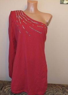 Kup mój przedmiot na #vintedpl http://www.vinted.pl/damska-odziez/krotkie-sukienki/11961355-nowa-czerwona-sukienka-na-jedno-ramie-ax-paris-14-42-xl