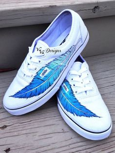 Ombre Feather Vans by VuVuDesigns on Etsy