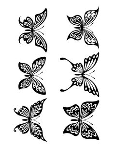 LARGE free Butterfly silhouette - in black