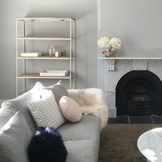 """Little Liberty. on Instagram: """"My lounge room transformation is coming along swimmingly. The walls have been freshly painted in my favourite and most used Dulux @duluxaus Wash and Wear color TRANQUIL RETREAT. I have been asked so many times about what light grey color we use and this is it! Secret's out! More supplier details to follow once the room is complete - so many more gorgeous interiors to come! #loungeroomredo #loungeroom #loungeroomsg"""" Dulux Grey Paint, Silver Grey Paint, Bedroom Themes, Kids Bedroom, Bedroom Ideas, Dulux Tranquil Retreat, Paint Colors For Living Room, Wall Colours, Paint Colours"""