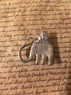 Antique silver plate fork elephant pendant! So much fun to make!!!