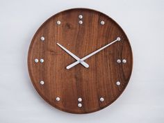 Wall-mounted teak clock FJ CLOCK by Architectmade