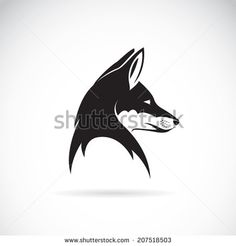 Fox Black And White Stock Illustrations & Cartoons   Shutterstock