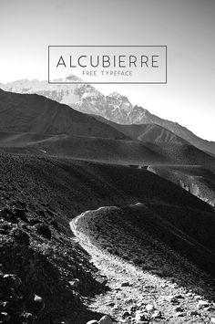 Alcubierre - Free Typeface   Designer: Matt Ellis