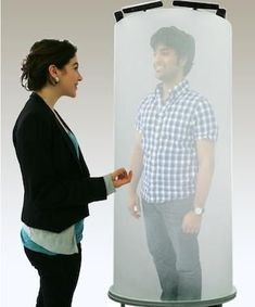 A video pod that is life size... 360-degree... and 3D! #Video Conferencing