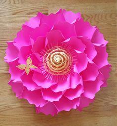 Papel de telón de fondo de flores pared de por PoshPaperDesignss