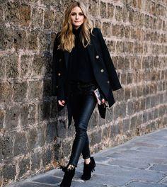 "BETTER.IN.BLACK•FASHION on Instagram: ""•Olivia Palermo• #oliviapalermo#oliviapalermostyle#parisfashionweek#pfw#parisstreetstyle#allblack#betterinblack"""