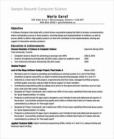 Computer Science Student Resume Fresh Sample Puter Science Resume 8 Examples In Word Pdf Simple Resume Examples, Nursing Resume Examples, Student Resume, Job Resume, Sample Resume, It Support Technician, Resume Models, Registered Nurse Resume, Unique