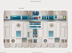 Descargable imprimible de R2-D2 de la saga de Star Wars2