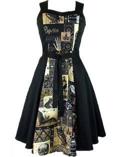"""Women's+""""Edgar+Allen+Poe""""+Full+Circle+Dress+by+Hemet+(Black)"""