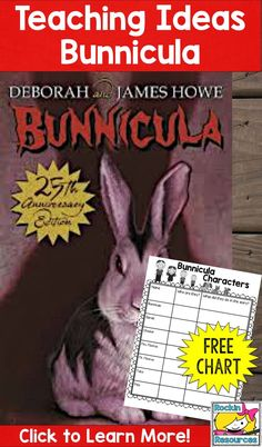 Who doesn't love this funny bunny tale of a mystery?  Plus it is packed with ideal reading comprehension opportunities!  Check out this blog post for ideas when reading Bunnicula and grab a free character chart!