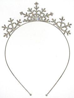 Crystal Snow Flake Hair Band