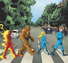 capas de discos com heróis.