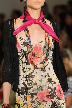Ralph Lauren Spring 2013: live the kerchief and beads : and of course the floral