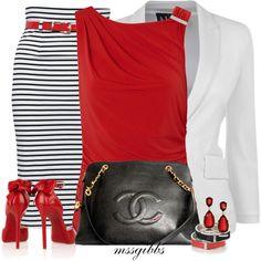 Dressy Maxi Striped by mssgibbs on Polyvore