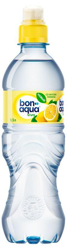 Вода BonAqua Viva со вкусом лимона, 0,5л