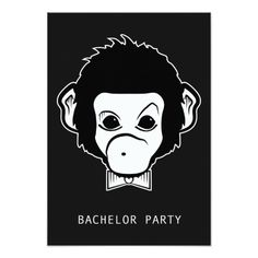 Shop bachelor party mister monkey invitation postcard created by maydaze. Monkey Invitations, Bachelor Party Invitations, Custom Invitations, Wedding Invitations, Bachelor Wedding, Postcard Size, A Good Man, Paper Texture, I Am Awesome