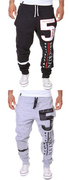 Men's Mid Rise Active Chinos Sweatpants Pants,Simple Active Relaxed Loose Letter Pants
