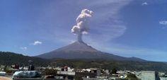 Sopka Popocatepetl.
